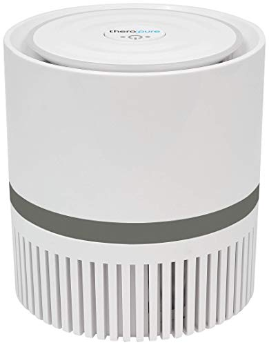Envion Therapure TPP100 Compact 360 HEPA Type Air Purifier, 2-Speed Grey, 25 Sq Ft Capacity | Removes Odors, Smoke, Mold, Pet Dander, Bacteria And More!