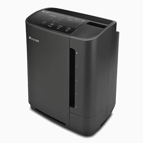 Brondell Air Purifier O2+ Revive Air Purification System with Humidifier -Odor Eliminator - Dual True HEPA Air Washer for Dust, Smoke, Off-Gassing, and Pets