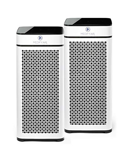 Medify MA-40W2 V2.0 Medical Grade Filtration H13 True HEPA for 840 Sq. Ft. Air Purifier, 99.9% | Modern Design - White (2-Pack)