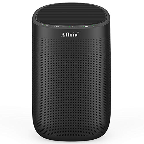 Afloia Air purifier with Dehumidifier, 35 OZ(1000ML) Small Dehumidifiers, H13 True HEPA Filter for Home/Bedroom/Bathroom/Basements/Garage, Mini Dehumidifier for Space Up to 250 sq ft-Super Quiet Black